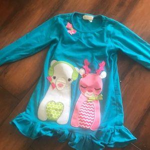 Cute turquoise winter pajamas